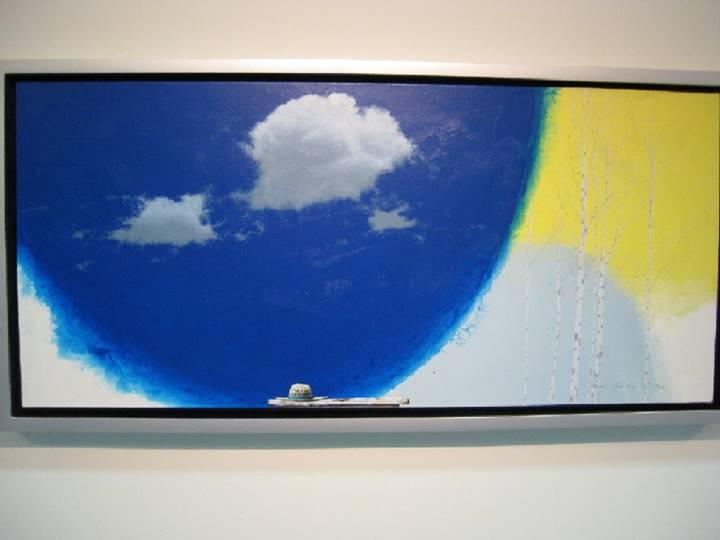 今回の個展では曲線の空も登場しました!