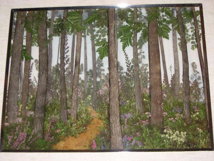 青い森の中の道への記憶