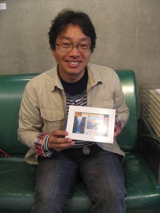 吉野先生の企画展案内はがきとともに