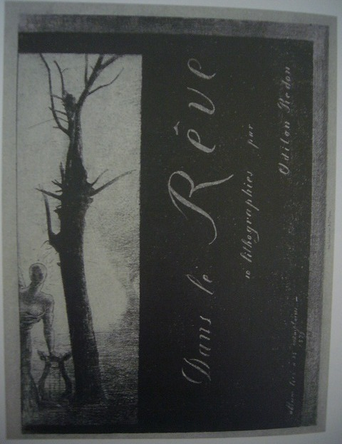 夢のなかで 表紙=扉絵 1879年 リトグラフ、紙