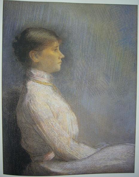 ポール・ゴビヤ―ルの肖像 1900年 パステル、紙