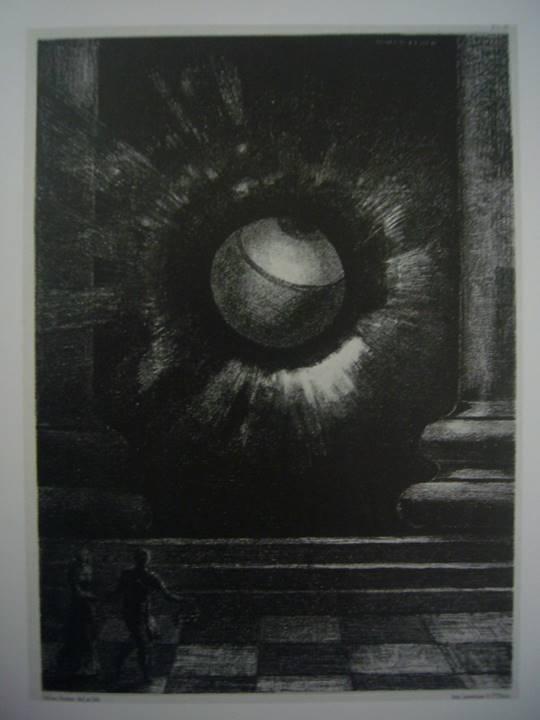 気球 1883年 木炭、チョーク、紙