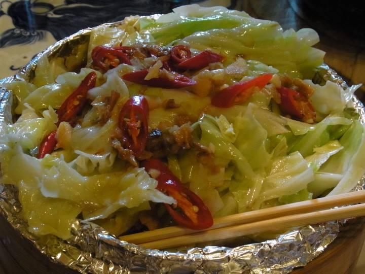 野菜の蒸し炒め