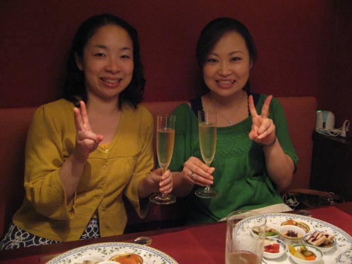 シャンパンで乾杯!!