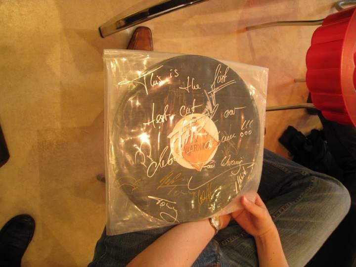 サイン入りのデビューレコード