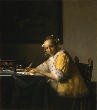 「手紙を書く女」