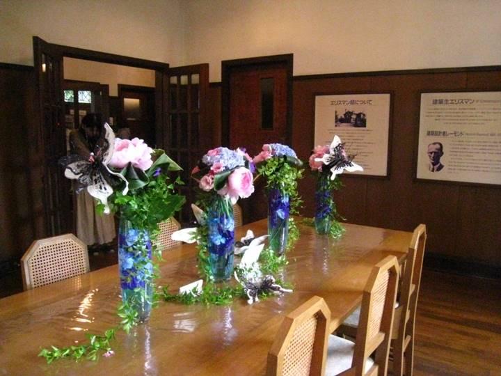 生け花のイベント開催中