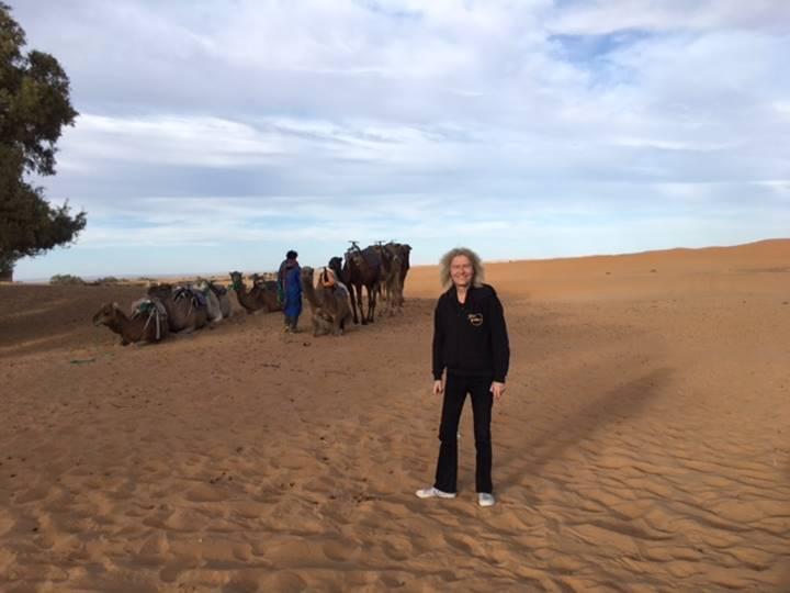 休暇で訪れたモロッコにて