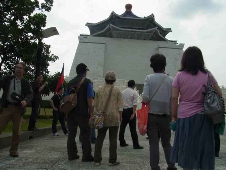 中正記念堂にて