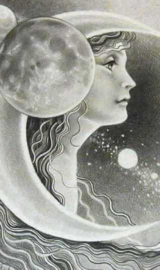 「月と花」 内側左
