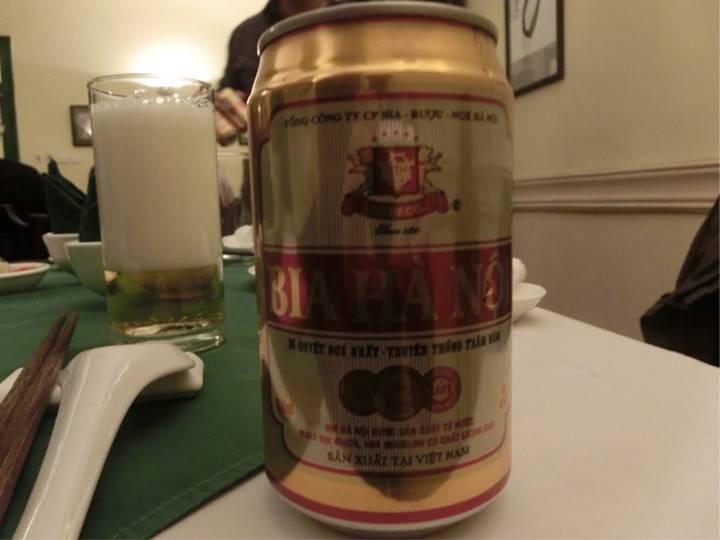 ハノイビールで乾杯!