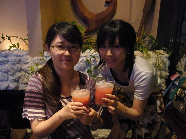 女子の乾杯(^◇^キラキラ☆
