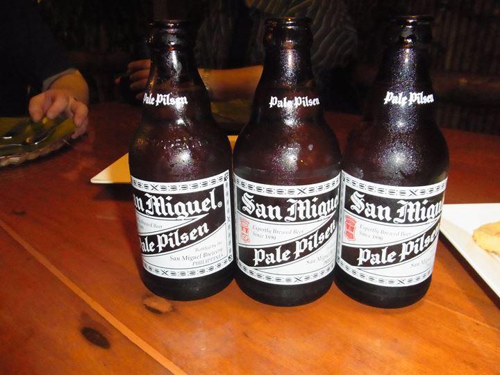 アルコールはフィリッピンビールでしょ!