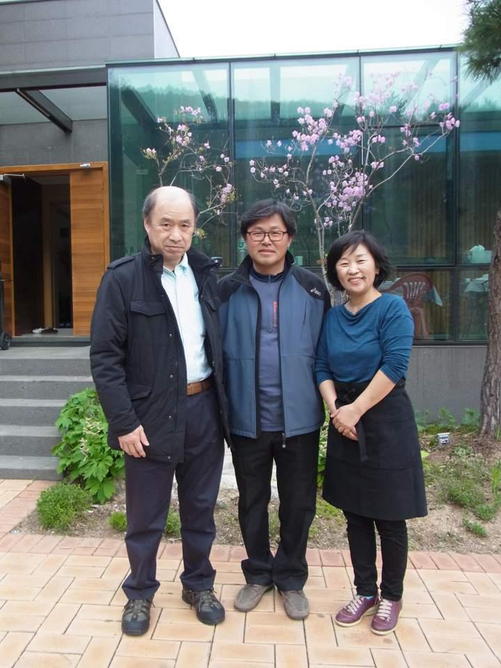 ソングン画伯&奥様と、韓国にて。