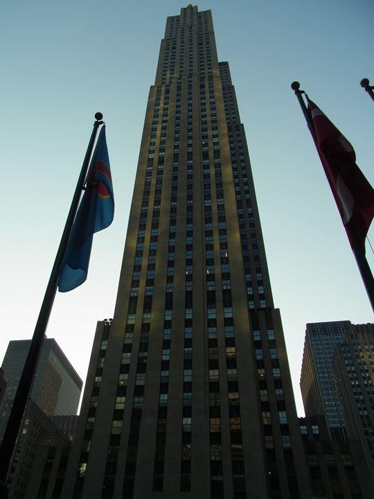 NYらしい高層ビル。