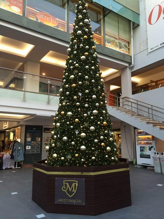 元町に飾られたクリスマスツリー