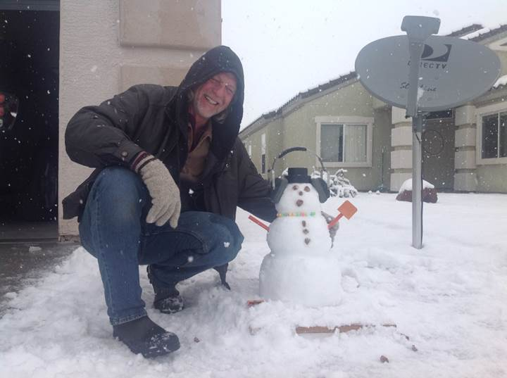 STEVEお手製 雪だるま!