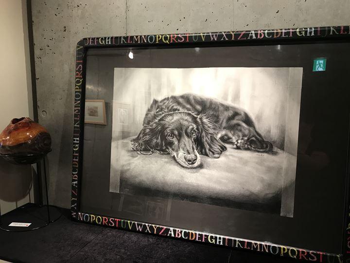 ペット肖像画、鉛筆画作品
