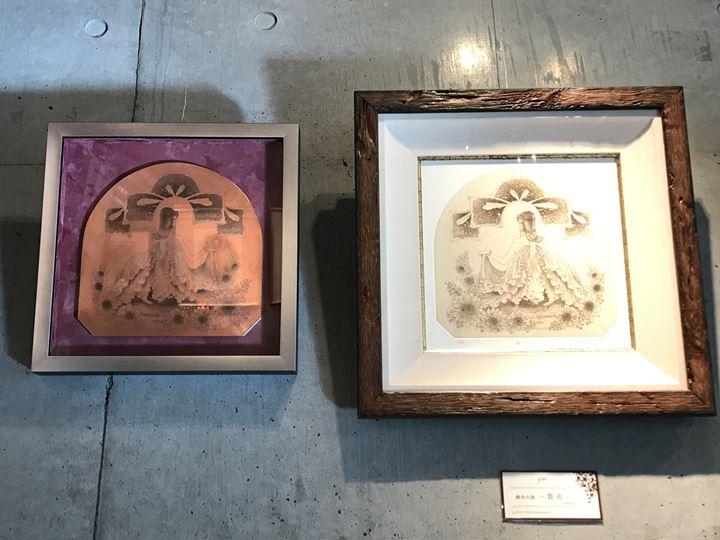 銅版画家 YUI『The Light』展示中のギャラリーの雰囲気