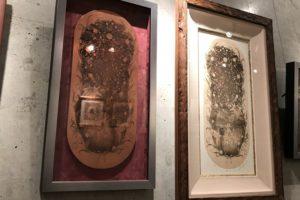 銅版画家 YUI『腐蝕作品展』の展示の様子