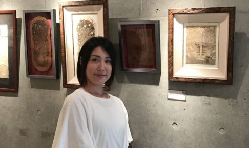 銅版画家YUI先生近影写真