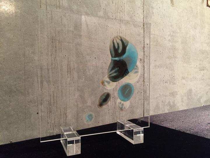 フジムラコンテンポラリーアート所属、K. Ashino氏による色脈作品