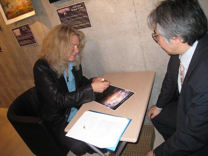 ウレ・リトゲン画伯、初来場展の写真(2009年)