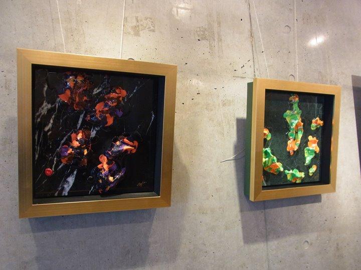 K. Ashino「-隆起-」展(2016年)の作品写真