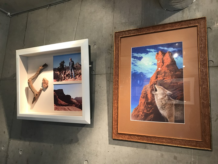 内藤貞夫画伯が発表した版画『悠久の大地~祈り』写真