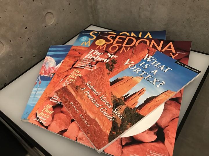 アメリカアリゾナ州セドナのパンフレット写真