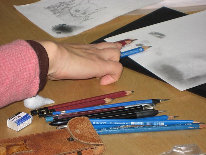 制作に使うときの鉛筆
