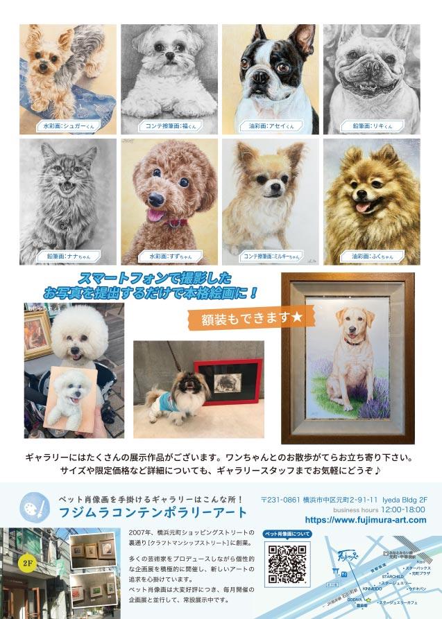 スターチャイルドさんと提携して行う「ペット肖像画 ゴールデンウィーク受注キャンペーン」のチラシ